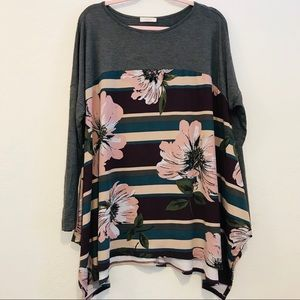 ODDY Floral Long Sleeve Top Size 2XL